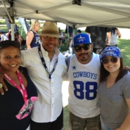 Dallas Cowboys fan club in California with What A Fan Founder